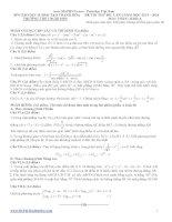 đề thi thử đại học lần 1 môn toán khối a 2014 - thpt nghi sơn