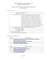 Hoover City Schools Secondary Curriculum Arts, 2007-08 pdf