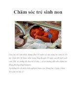 Chăm sóc trẻ sinh non doc