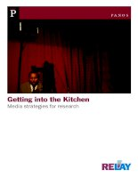 Getting into the Kitchen Media strategies for research pdf