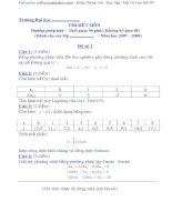 Đề thi môn phương pháp tính và lời giải 2