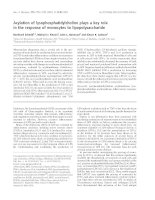 Báo cáo khoa học: Acylation of lysophosphatidylcholine plays a key role in the response of monocytes to lipopolysaccharide ppt