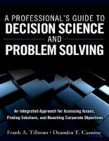 A Professional's Guide to Decision Science and Problem Solving ppt