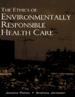The Ethics of Environmentally Responsible Health Care docx