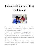 Làm sao để bố mẹ dạy dỗ bé trai hiệu quả pot