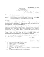 SB ORDER NO. 01/2011: Government of India Ministry of Communications & IT Department of Posts ppt