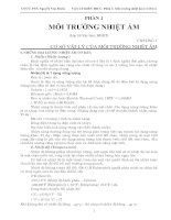 VẬT LÝ KIẾN TRÚC - Phần 1: Môi Trường Nhiệt Ẩm pdf