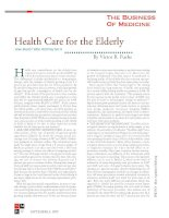 Health Care for the Elderly - How Much? Who Will Pay For It pot