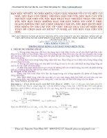 vận dụng phương pháp bảo toàn điện tích  trong giải toán hóa học