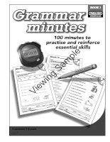 grammar minutes book 1