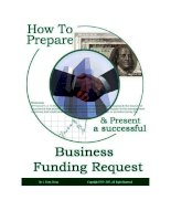 How To Prepare and Present a Successful Business Funding Request pdf