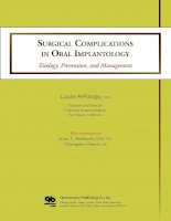 Surgical Complications in Oral Implantology: Etiology, Prevention, and Management doc