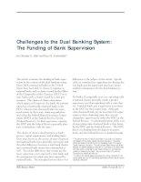 Challenges to the Dual Banking System: The Funding of Bank Supervision docx