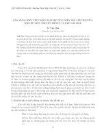 XÂY DỰNG KIẾN TRÚC KHO TÀI LIỆU DỰA TRÊN MỐI LIÊN HỆ GIỮA KHO DỮ LIỆU TRUYỀN THỐNG VÀ KHO TÀI LIỆU potx