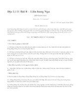 Địa Lí 11 Bài 8 – Liên bang Nga