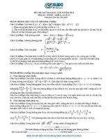đề thi thử đại học 2014 môn toán lần 2