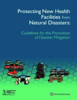 Protecting New Health Facilities from Natural Disasters: Guidelines for the Promotion of Disaster Mitigation potx