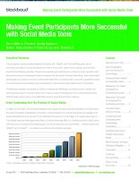 Making Event Participants More Successful with Social Media Tools potx