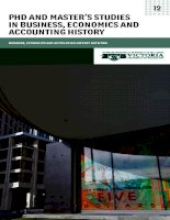 PHd and master's studies in Business, economics and accounting History potx