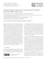 Volatile Organic Compound (VOC) measurements in the Pearl River Delta (PRD) region, China pdf