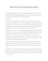 Hạn chế rủi ro trong nuôi tôm nước lợ pdf