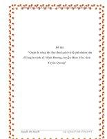 """Đề tài: """"Quản lý công tác thu thuế, phí và lệ phí nhằm cân đối ngân sách xã Minh Hương, huyện Hàm Yên, tỉnh Tuyên Quang"""" ppt"""