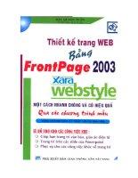 Thiết kế trang web bằng Frontpage 2003 và Xara webstyle một cách nhanh chóng và hiệu quả nhất qua các chương trình mẫu potx