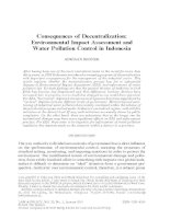 Consequences of Decentralization: Environmental Impact Assessment and Water Pollution Control in Indonesia ppt