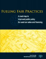 Fueling Fair Practices - A road map to improved public policy for used car sales and financing docx