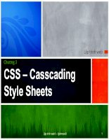 CSS – Casscading Style Sheets doc