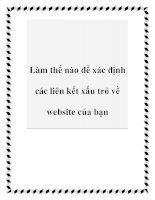 Làm thế nào để xác định các liên kết xấu trỏ về website của bạn ppt