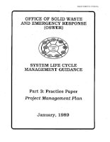 SYSTEM LIFE CYCLE MANAGEMENT GUIDANCE: PRACTICE PAPER PROJECT MANAGEMENT PLAN pptx