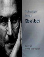 The Presentation Genius of Steve Jobs ppt