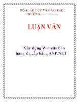 LUẬN VĂN: Xây dựng Website bán hàng đa cấp bằng ASP.NET pptx
