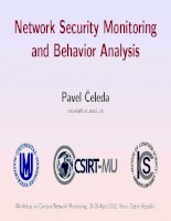 Network Security Monitoring and Behavior Analysis potx