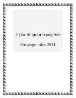 3 yếu tố quan trọng Seo On page năm 2011 docx