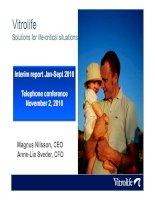 Presentation of interim report january september 2010