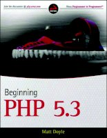 Beginning PHP 5.3 pdf