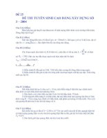 ĐỀ THI TUYỂN SINH CAO ĐẲNG XÂY DỰNG SỐ 3 – 2004 SỐ 25