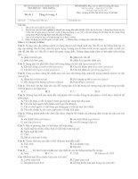 Đề thi môn Phân tích thiết kế hướng đối tượng đề 1