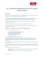C01 - Fundamentals of Management Accounting (2011 syllabus) A guide for students pot