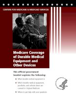 Medicare Coverage of Durable Medical Equipment and Other Devices ppt