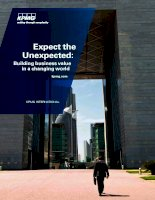 Expect the Unexpected: Building business value in a changing world pptx