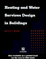 Heating and Water Services Design in Buildings pptx