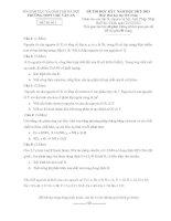 Đề thi học kì 1 môn Hóa 10 cơ bản trường Chu Văn An docx