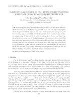 NGHIÊN CỨU XÂY DỰNG CHỈ SỐ CHẤT LƯỢNG MÔI TRƯỜNG ĐÔ THỊ (UEQI) VÀ ÁP DỤNG CHO MỘT SỐ ĐÔ THỊ TẠI VIỆT NAM doc