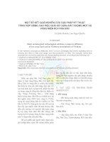 MỘT SỐ KẾT QUẢ NGHIÊN CỨU GIẢI PHÁP KỸ THUẬT TỔNG HỢP NÂNG CAO HIỆU QUẢ SỬ DỤNG ĐẤT RUỘNG MỘT VỤ VÙNG MIỀN NÚI PHÍA BẮC pptx