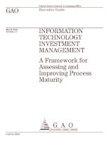 INFORMATION TECHNOLOGY INVESTMENT MANAGEMENT: A Framework for Assessing and Improving Process Maturity pot