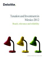 TAXATION AND INVESTMENT IN MEXICO 2012: REACH, RELEVANCE AND RELIABILITY doc
