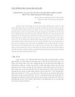 ẢNH HƯỞNG CỦA CÁC YẾU TỐ ĐẦU VÀO ĐẾN PHÁT TRIỂN CÀ PHÊ BỀN VỮNG TRÊN ĐỊA BÀN TỈNH ĐẮK LẮK pdf